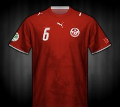 Tunisia away shirt for the 2006 World Cup Finals. 2006 World Cup Final, Fifa World Cup, Polo Shirt, T Shirt, Germany, Mens Tops, Finals, Soccer, Supreme T Shirt