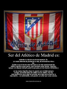 Ser del atleti es... At Madrid, Reyes, Bullet, Flower, Soccer Players, Football Team, Athlete