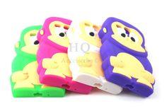 Cute Funny Cool Monkey Soft Gel Rubber Case for Samsung Galaxy S3 Mini I8190 HQ 6 + 6$