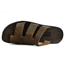 Men's Sandal Leather Slippers, Mens Slippers, Leather Sandals, Toe Loop Sandals, Expensive Shoes, Womens Golf Shoes, Golf Fashion, Buy Shoes, Women's Pumps