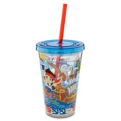 Jake and the Never Land Pirates Tumbler with Straw - Small | Drinkware | Disney Store