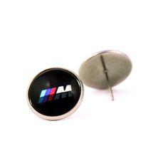 Novelty BMW logo  stud earrings. BMW fan logo M earrings. Bmw M5. Personalised  jewelry  gift. BMW lovers gift. 2017. by Mysstic on Etsy