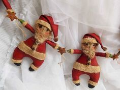 Instant Download E-pattern Folk Art Santa Claus Doll Pattern Christmas Garland Primitive Holiday