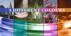 3D Overlay glass (5-different colours, pack-vol.2)  #videohive