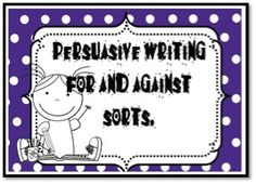 Persuasive Writing Sorting, ideas, topic sentences for paragraphs. Argumentative Writing, Persuasive Writing, Teaching Writing, Teaching Strategies, Essay Writing, Teaching Resources, Writing Ideas, Teaching Ideas, Sentence Prompts