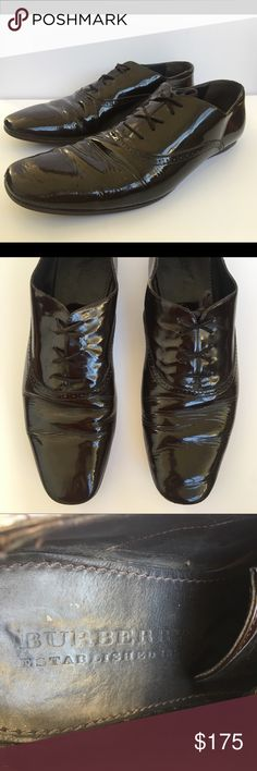 fe32e5491a9252 Vintage Burberry Prorsum laceups Chocolate brown patent leather laceups by  Burberry Prorsum. Vintage. Used