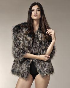 FLAVIA. Fox fur tricot.