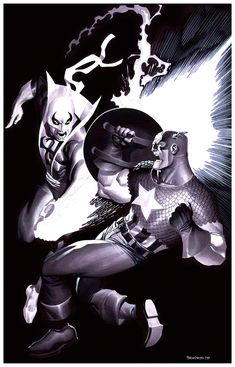 Captain America VS Iron Fist by ChristopherStevens.deviantart.com on @deviantART