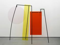 Amaris Pica - Memorial for Intersections #14 2015 Colour coated steel and coloured perspex 187 x 186 x 70 cm / 73 x 72 x 27 in