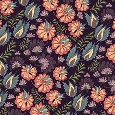 jallo_m Dark floral pattern 🌸🌸🌸. #textiles #textileart #surfacedesign #surfacepattern #fashion #fabric #wallpaper #printable #patterns #design #art #graphic #printandpattern #fashiondesign #flowers #floral #drawing #surfacespatterns