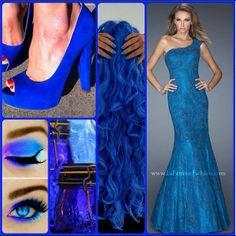 #lafemme style 19604 #oneshoulder #blue #beauty