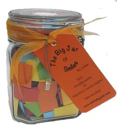 A Year of ★Love & Friendship★ quotations in a jar. The Perfect Gift for loved ones in your life especially for Birthdays and other special holidays & events. Each jar contains 365 Multi-coloured Quotes - a year of everyday Thoughts and Sayings in a 900ml Kilner clip type glass jar to inspire loved ones to happiness. For friends, family and special people in your life - mum, dad, wife, sisters, aunt, friend. ★Start your days with a smile★