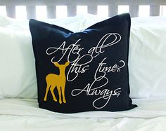 "Harry Potter ""After All This Time? Always"" Pillow Cover - Black or White"