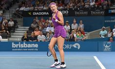 Victoria Azarenka beats Elena Vesnina at the Brisbane International #DailyMail