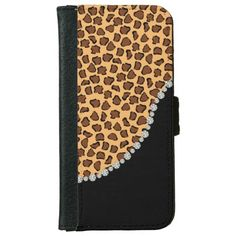 Leopard Print, Diamond Twist Flap Wallet