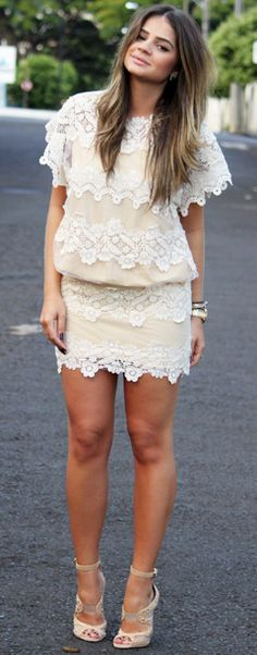 Love this little lace dress!