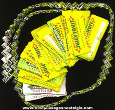 gum wrapper chain | Wrigley's Gum Wrapper Chain With 257 More 1/2 Wrappers For Links