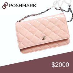Chanel Classic Pastel Chain Wallet (WOC) Authentic. Classic patent leather pastel pink wallet on chain crossbody bag. Includes authenticity card, dustbag, box, shopping bag. More details&pics when I reopen my closet. NO TRADES. Bundle & save even more✅ CHANEL Bags Crossbody Bags