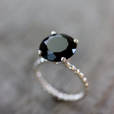 ring, black, and jewelry image