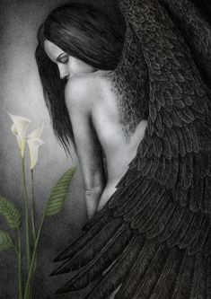 Painting by Pat Erickson You were by my side When I came back from Sheol. You had awaited. Your smile guided me through the Dark, now it guides my soul.