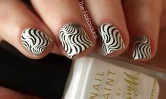 Stamping Plate: Red AngelRA106  Base Colour: Barry M Matt White  Stamping Colour: W7 Black  Top Coat of NYC