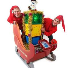 Santa's helpers and the Goodometer. Christmas Elves and entertainers for hire in London and the UK.