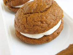 Pumpkin Whoopie Pies with Vanilla Bean-Cinnamon Cream Cheese Filling