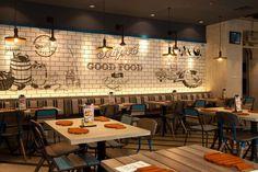 Fish & Co Restaurant by Metaphor Interior at Puri Indah Mall, Jakarta – Indonesia Decoration Restaurant, Restaurant Interior Design, Cafe Interior, Restaurant Branding, Seafood Restaurant, Fast Food Restaurant, Design Blog, Cafe Design, Cafe Bar