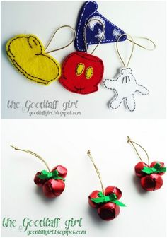 20 Creative DIY Disney Christmas decorations that anyone can 20 Kreative DIY-Disney-Weihnachtsschmuck, die jeder kann [post_tags – Disney Crafts Ideas Mickey Mouse Ornaments, Minnie Y Mickey Mouse, Mickey Mouse Christmas, Disney Christmas Tree Decorations, Christmas Diy, Christmas Things, White Christmas, Disney Diy, Disney Crafts