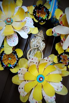 #papercraft #repurposing:  Whimsical Spring Wreath - 15 Creative Recycling DIY Plastic Projects