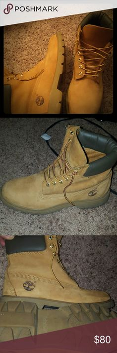 Timberland Boots NEW! HARDLY USED ... ps. WASH WITH DISH SOAP AND WATER Timberland Shoes Boots
