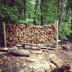 Getting all the wood ready