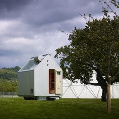 Renzo Piano/ Vitra Campus in Weil am Rhein / Germany / 2χ2/ tiny wooden cabin with room for just a single inhabitant.