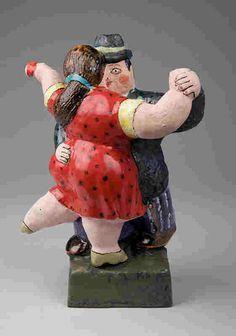 Ceramics-Earthen Ware-Noi Volkov: Teapot  Botero,Dancers