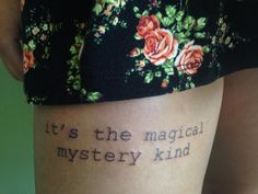 Edward Sharpe and the Magnetic Zeros lyrics by Nancy at Black Dragon Tattoo in Wisconsin