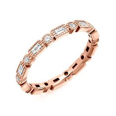 Raphael 18ct Rose Gold & 0.60ct Round & Baguette Diamond Full Eternity Ring Ad: Wedding Rings | Diamond Wedding Ring | Diamond Engagement Ring | Diamond Wedding Band | Rose Gold Wedding Ring | Rose Gold Wedding Band | Rose Gold Engagement Ring |