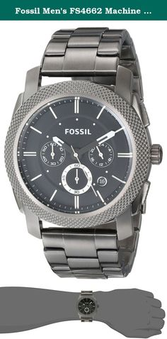 55e17a4c13b6 Fossil Men s FS4662 Machine Chronograph Stainless Steel Watch - Smoke. This  functional timepiece is made
