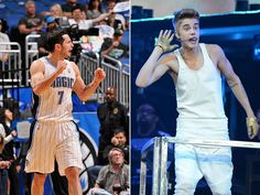 J.J. Redick went to a Justin Bieber concert because 'a happy wife is a happy life' #bieber #music #celebs #celebrity #photos #basketball