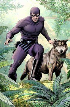 the phantom(ghost who walks) Comic Book Characters, Comic Character, Comic Books Art, Comic Art, Anime Comics, Dc Comics, Phantom Comics, The Lone Ranger, Wow Art