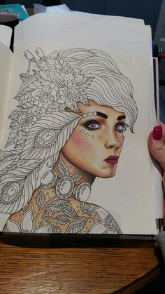 Hanna Karlzon Magical Dawn. Faber-Castell polychromos. First attempt at human skin.