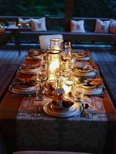 A fall dinner setting on the farm at Blackberry Farm Anthropologie + Remodelista #PinToWin #anthropologie