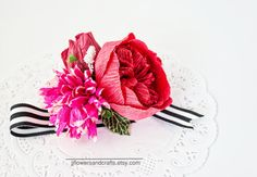 Rose Wrist Corsage  FOR CUTOM COLORS AND PAPER COLOR CHART, PLEASE CONTACT ME…