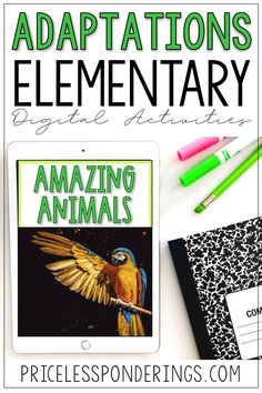 Animal adaptations activities for kids during distance learning. Have fun using these easy google slides in your 3rd grade class!