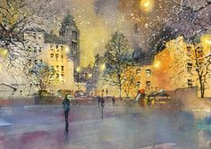 Mika Törönen Watercolor, Cityscapes, Cities, Painting, Artist, Pen And Wash, Watercolor Painting, Painting Art, Watercolour