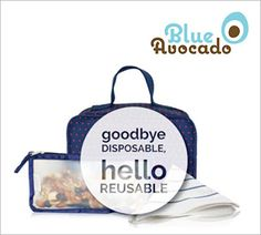 Say goodbye to disposable and hello to reusable with @blueavocadolove's lunch bags and  reusable storage bags  that can be used for used for snacks, sandwiches, travel, home organization and more. Use promo code voluteerspot15 for 15% off all purchases storewide, click >> http://www.blueavocado.com