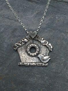 Birdhouse silver pendant £45.00