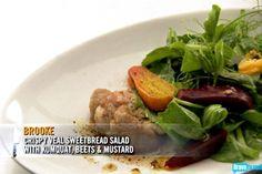 Brooke Williamson's Crispy Veal Sweetbread with Kumquat, Beets, & Mustard