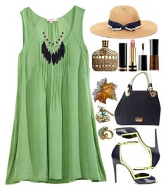 """Neon Sandals"" by grozdana-v ❤ liked on Polyvore featuring Calypso St. Barth, Pierre Hardy, Michael Kors, Giorgio Armani, Gucci, Pier 1 Imports, John Varvatos, women's clothing, women and female"