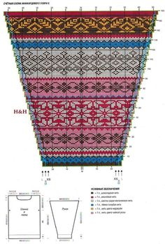 Fair Isle Knitting Patterns, Knitting Machine Patterns, Knitting Charts, Knitting Stitches, Knit Patterns, Hand Knitting, Stitch Patterns, Motif Fair Isle, Fair Isle Chart