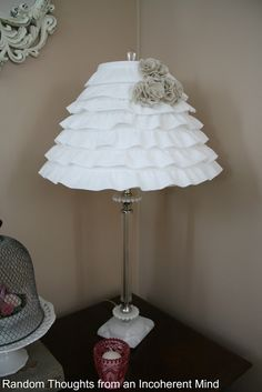 Ruffled Lamp Shade, blue flowers instead maybe?